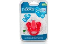 Dr. Brown's Happy Paci Σιλικόνης Κόκκινο 0m+ 1τμχ