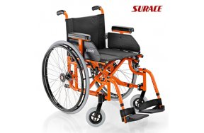 Surace Αναπηρικό Αμαξίδιο Alluminia S Πτυσσόμενο Ελαφρού Τύπου με Μεγάλες Ρόδες