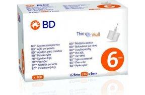 BD Thin Wall Βελονάκια για Πένα 0.25mm 31G x 6mm 100τμχ