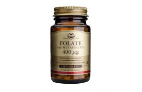 SOLGAR FOLATE 400MCG (AS METAFOLIN) 50TABS
