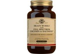 Solgar Brain Works with Full Spectrum Curcumin & Bacomind 60 κάψουλες