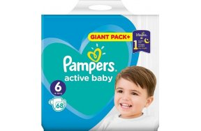 Pampers Active Baby Dry Giant Box No 6 (13-18kg) 68τμχ