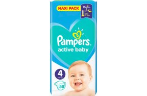 Pampers Active Baby Maxi Pack Νο 4 (9-14kg) 58τμχ