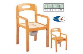 Medinext Commode Πολυθρόνα Ξύλινη + WC