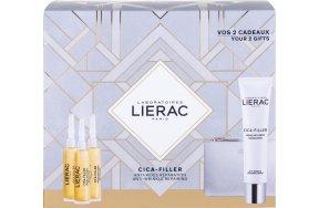 Lierac Cica-Filler For Normal - Dry Skin Anti-Wrinkle Repairing Cream 40ml, Anti-Wrinkle Repairing Serum 3 x 10ml & Rue des Fleurs Monaco Pouch