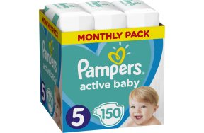 Pampers Active Baby No 5 (11-16Kg) 150τμχ
