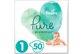 Pampers Pure Protection No1 (2-5kg) 50τμχ