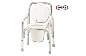 John's Commode Deluxe Καρέκλα + WC Αλουμινίου με Ρυθμιζόμενο Ύψος