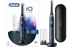 Oral-B iO Series 8 Ηλεκτρική Οδοντόβουρτσα με Χρονομετρητή και Αισθητήρα Πίεσης Black Onyx