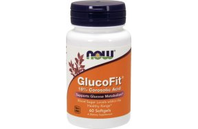 Now Foods Glucofit Corosolic Acid 60 μαλακές κάψουλες