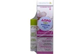 HELENVITA FeminVita pH 4.2 Cleansing Foam 150ml & Purity Shower Gel 50ml.