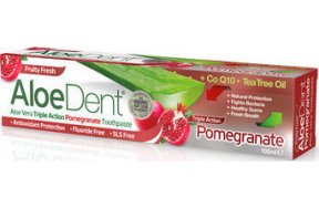 Optima Naturals AloeDent Triple Action Pomegranate 100ml