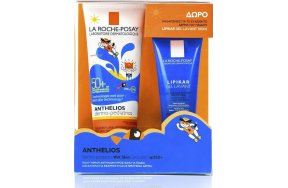 La Roche Posay Anthelios Dermo-Pediatrics Wet Skin Gel Lotion SPF50+ & Lipikar Gel Lavant SPF50