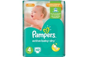PAMPERS ACTIVE BABY DRY 4 42TEM