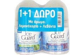 Optima Ice Guard Natural Crystal Deodorant Lemongrass & Lavender Roll-On 2 x 50ml