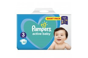 Pampers Active Baby Giant Pack No 3 (6-10kg) 90τμχ