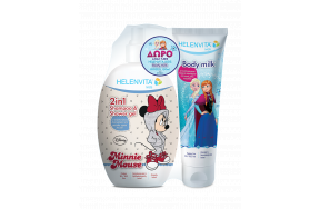 Helenvita Promo Kids Shampoo & Shower Gel Minnie 500ml & Δώρο Kids Body Milk Frozen 150ml