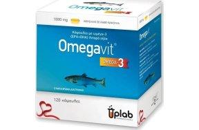 Uplab Pharmaceuticals Omegavit Κάψουλες Ωμέγα-3 (EPA & DHA) Λιπαρά Οξέα 1000mg 120 κάψουλες