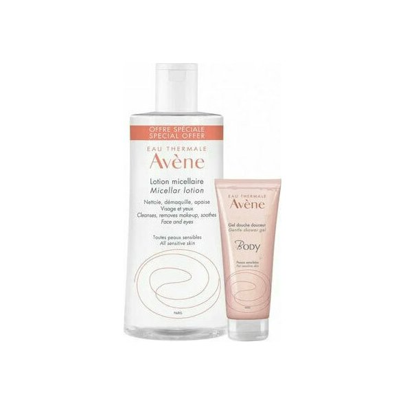 Avene Lotion Micellar 500ml & Avene Body Gentle Shower Gel 100ml