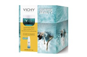 Vichy PROMO Summer Beauty Slow Age Night Cream & Mask 50ml & ΔΩΡΟ Mineral 89 10ml