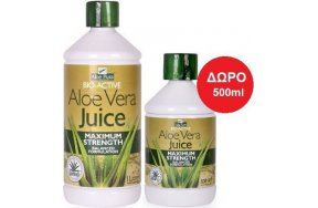 Optima Aloe Pura Aloe Vera Juice Maximum Strength 1000ml + Δώρο 500ml