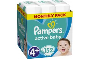 Pampers Active Baby Monthly Box Νο 4+ (10-15kg) 152τμχ