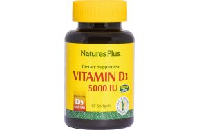 Nature's Plus Vitamin D3 5000IU 60 μαλακές κάψουλες