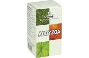CHARAK ADDYZOA 100TABSCHARAK Addyzoa  Αυξάνει τον αριθμό και την κινητικότητα των σπερματοζωαρίων.  Αυξάνει σημαντικά τις πιθανότητες σύλληψης.  Η φυσική και αποτελεσματική απάντηση στην ανδρική λειτουργική στειρότητα.  Tο ADDYZOA βελτιώνει την ποσότητα και την ποιότητα του σπέρματος. Aυξάνοντας τον αριθμό των υγειών σπερματοζωαρίων με κανονική μορφολογία και κινητικότητα μπορεί να αυξήσει τις πιθανότητες μιας επιτυχημένης σύλληψης και εγκυμοσύνης σε ζευγάρια με ιδιοπαθή υπογονιμότητα.  ΧΑΡΑΚΤΗΡΙΣΤΙΚΑ:  • Π
