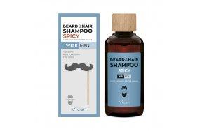 VICAN WISE MEN - BEARD + HAIR SHAMPOO SPICY 200ML