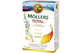 Moller's Total Ωμέγα 3 28 κάψουλες Βιταμίνες & Μέταλλα 28 ταμπλέτες