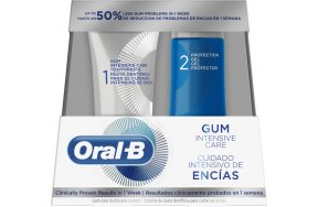 Oral-B Gum Intensive Care Oral Hygiene System For Healthy Gums, Toothpaste x 52ml & Protection Gel x 63ml