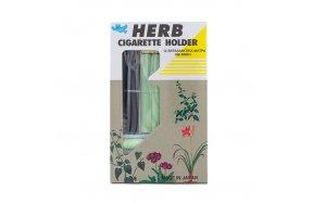 Herb Cigarette Holder Μαύρο Χρώμα + Θήκη + 12 Ανταλλακτικά Φίλτρα