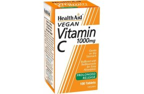 Health Aid Vitamin C 1000mg Prolonged Release 100 φυτικές κάψουλες