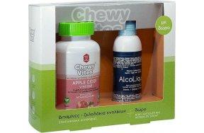 Vican Chewy Vites Apple Cider Vinegar 60 Ζελεδάκια & Alcoliquid Spray 150ml