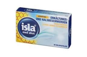 Isla Med Acute Throat Pastilles For Colds And Sore Throats (Citrus & Honey) 20 Παστίλιες