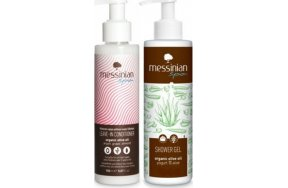 Messinian Spa Set Leave In Conditioner & Showergel Yogurt & Aloe