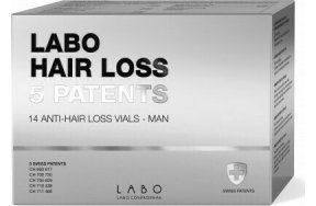 Labo Hair Loss 5 Patents Man Anti Hair Loss 14vials x 3.5ml
