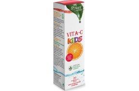 Power Health Vita-C Kids Stevia 20 αναβράζοντα δισκία Ροδάκινο & Φρούτο Του Πάθους