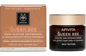 Apivita Queen Bee Kρέμα Ημέρας Ολιστικής Αντιγήρανσης Πλούσιας Υφής με Βασιλικό Πολτό σε Λιποσώματα 50ml