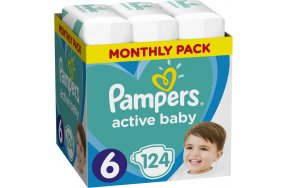 Pampers Active Baby Monthly Box No 6 (13-18kg) 124τμχ