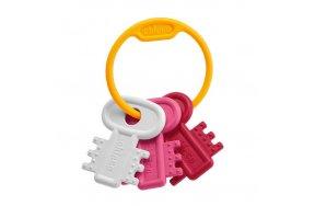 Chicco Χρωματιστά Κλειδιά Ροζ 3m+ (63216-10)