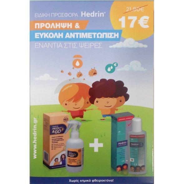 Hedrin Spray Conditioner 200ml & Hedrin Lotion Original 100ml