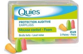 Quies Foam earplugs 3 ζεύγη