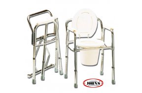 John's Commode Καρέκλα + WC Πτυσσόμενη με Ρυθμιζόμενο Ύψος