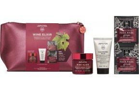 Apivita Wine Elixir Σύσφιξη & Αίσθηση Lifting Light Texture Care Set