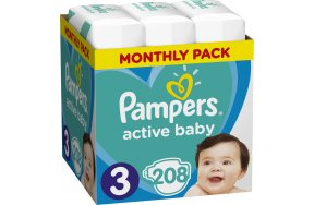 Pampers Active Baby Monthly No 3 (6-10kg) 208τμχ