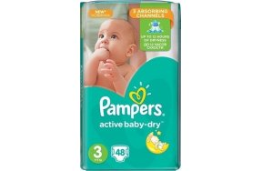 PAMPERS ACTIVE BABY DRY 3 48TEM
