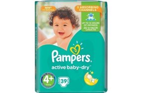 PAMPERS ACTIVE BABY DRY 4 39TEM