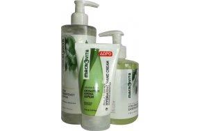 Macrovita Λάδι Ελιάς & Λεμόνι Gel Καθαρισμού Χεριών 300ml, Υγρό Πράσινο Σαπούνι 300ml & Κρέμα Χεριών 60ml