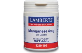 Lamberts Manganese 4mg (as Citrate) 100 Ταμπλέτες